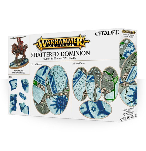 Age of Sigmar: Shattered Dominion: 60 & 90mm Oval Bases