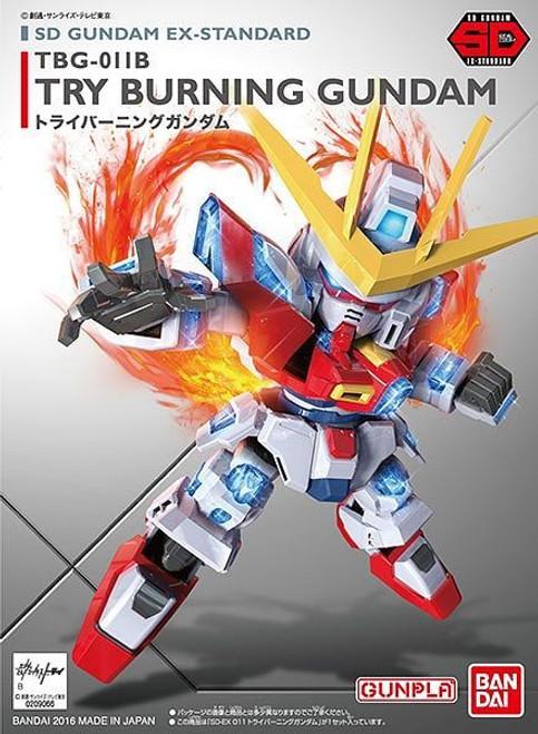 SD Gundam EX Standard Try Burning Gundam
