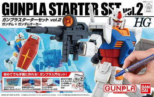 HGUC Gunpla Starter Set 2: Gundam Version G30th & Gundam Marker