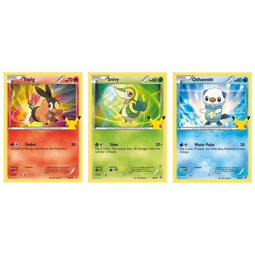 Pokemon TCG: 25th Anniversary Unova Starters 3-Pack Oversize Card Exclusive