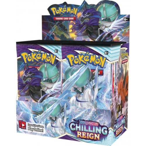 (Sealed Box of 36) Pokemon TCG: Sword & Shield 6 Chilling Reign Boosters
