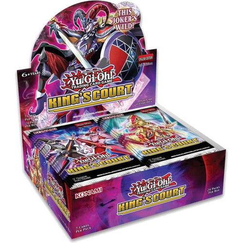 Yu-Gi-Oh! TCG King's Court Booster (Whole Box with 24 Booster packs) - (Pre-Order, released 09/07/21)