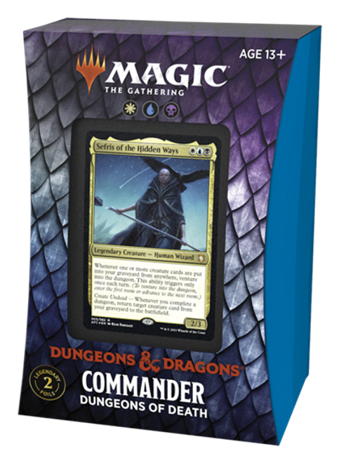 MTG: Adventures in the Forgotten Realms Dungeons of Death (White/Blue/Black) Commander Deck