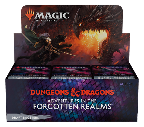 (Sealed Box of 36) MTG: Adventures in the Forgotten Realms Draft BoostersWhole Box with 36 Draft Booster packs)
