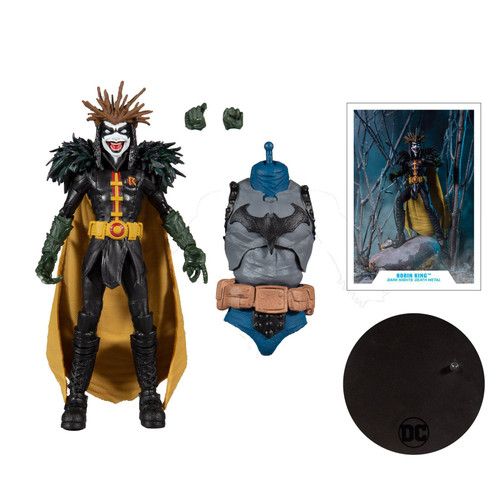 """DC Multiverse 7"""" Scale Build-A Wv4 Dm Robin King Action Figure"""