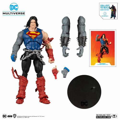 """DC Multiverse 7"""" Build-A Wv4 Dm Superman Action Figure"""