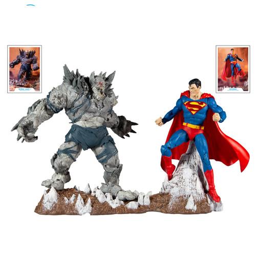 """DC Multiverse 7"""" Scale Superman V Devastator Action Figure 2 Pack"""