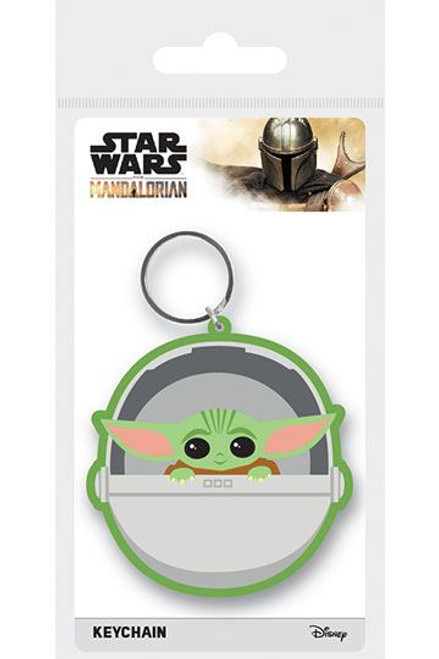 Star Wars The Mandalorian Rubber Keychains  The Child 6 cm Case