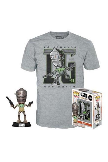 Star Wars The Mandalorian POP! & Tee Box Child In Satchel (Size XL )