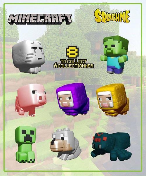 Minecraft Squishme Anti-Stress Figures 6 cm Display Series 1