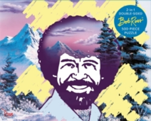 Bob Ross 2-in-1 Double Sided 500-Piece Puzzle