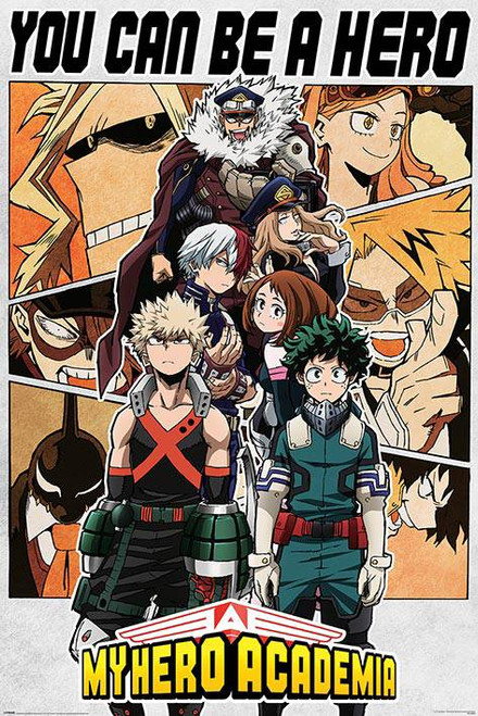 My Hero Academia Be A Hero Poster