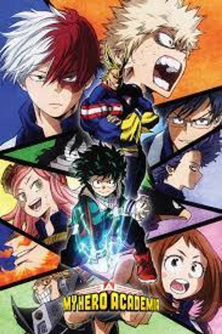 My Hero Academia Characters Mosaic Poster