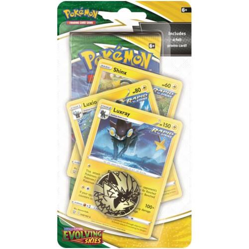 Pokemon TCG: Sword & Shield 7 Evolving Skies Premium Luxray Rapid Strike Checklane Blister