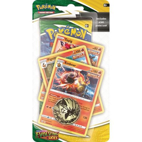Pokemon TCG: Sword & Shield 7 Evolving Skies Premium Emboar Single Strike Checklane Blister