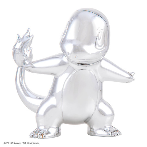 """Pokemon 3"""" Silver Charmander Vinyl Figure"""