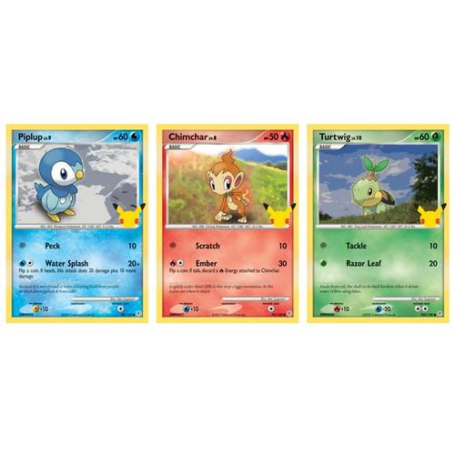 Pokemon TCG: 25th Anniversary Sinnoh Starters 3-Pack Oversize Card Exclusive