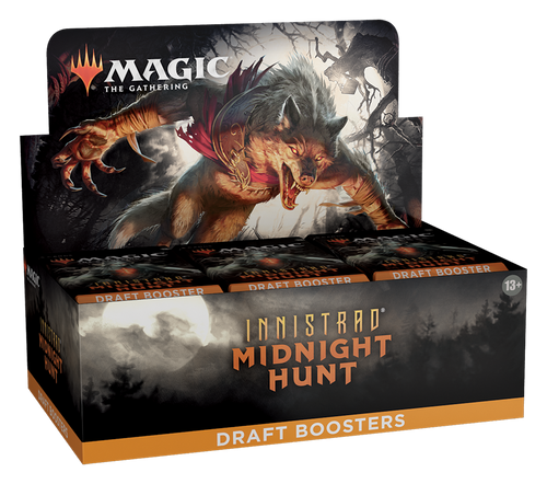 MTG: Innistrad - Midnight Hunt Draft Booster- Full box of 36 boosters (Pre-order-Out 17/09/2021)