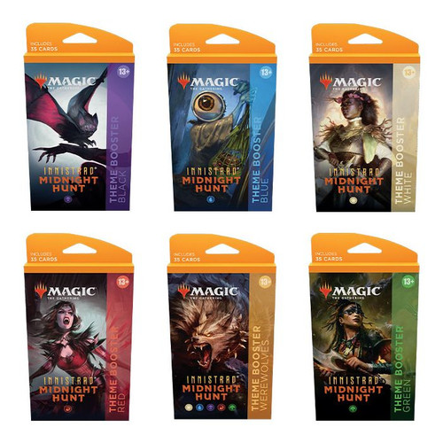 MTG: Innistrad Midnight Hunt Theme Booster-Full set of 6 Theme Booster packs (Pre-Order-Out 24/09/2021)