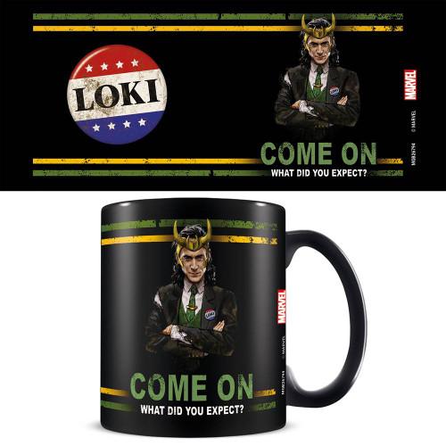Loki What Did You Expect? Black Mug