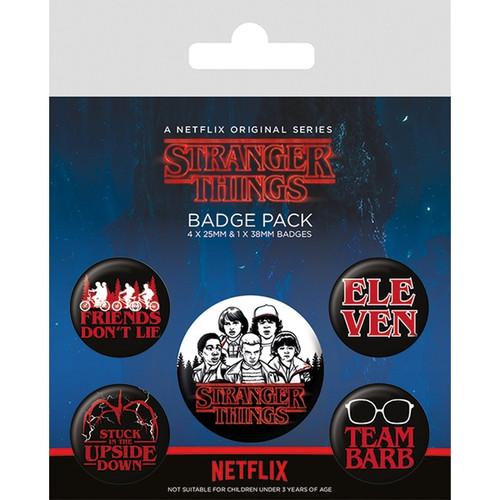 STRANGER THINGS (CHARACTERS) BADGE PACK