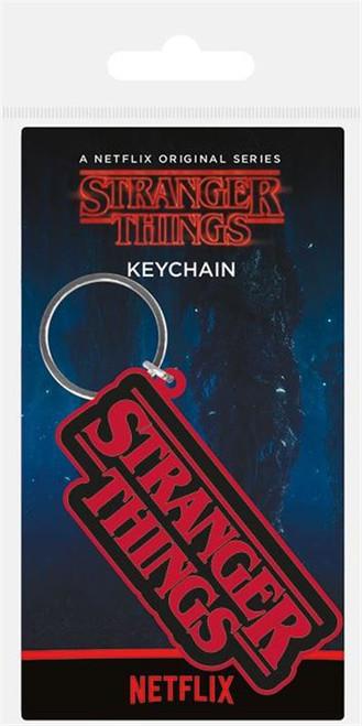 STRANGER THINGS (LOGO) RUBBER KEYCHAIN