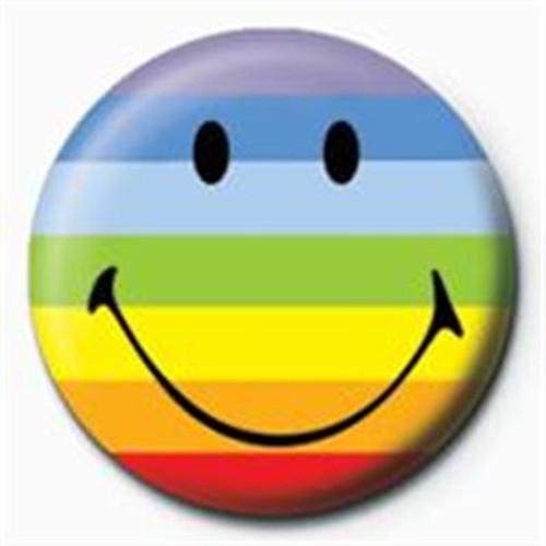 SMILEY - RAINBOW PINBADGE