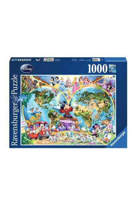 Disney Jigsaw Puzzle Disney's World Map  (1000 pieces)