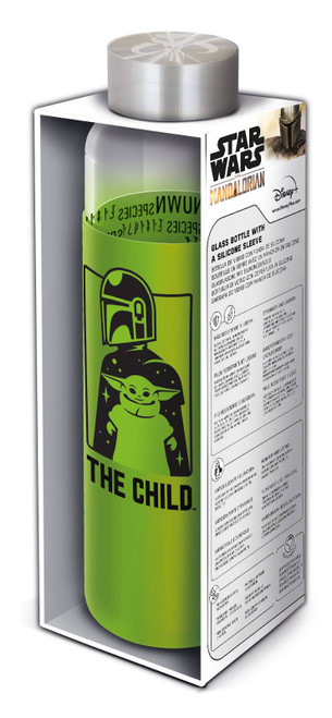 Mandalorian The Child 585 ML Glass Bottle With Silicone Cover