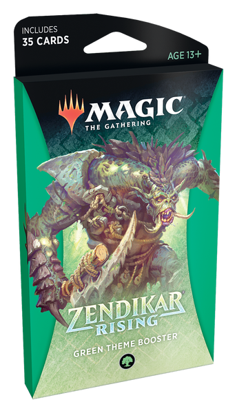 MTG: Zendikar Rising Green Theme Booster