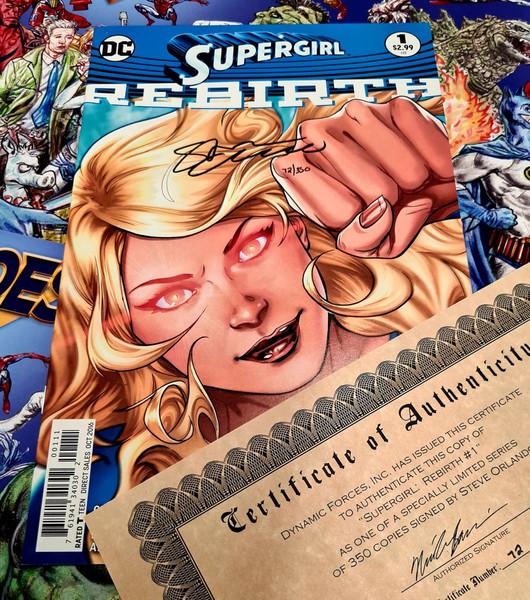Supergirl (Rebirth) #1 Signed By Steve Orlando