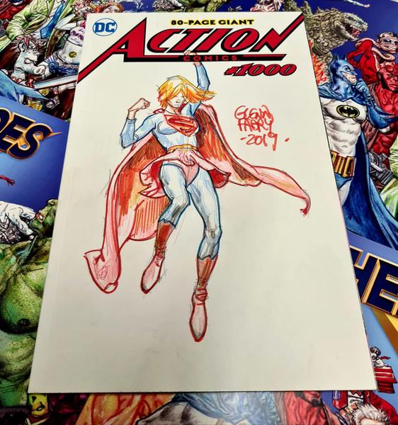Action Comics #1000 Original Supergirl Sketch by Glenn Fabry