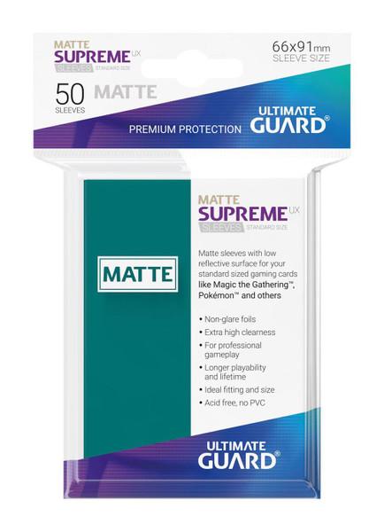 Ultimate Guard Supreme UX Sleeves Standard Size Matte Petrol Blue (50)