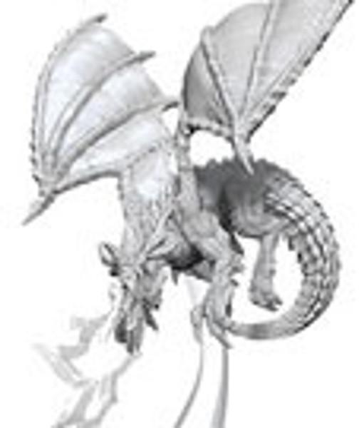 D&D Nolzur's Marvelous Miniatures Unpainted Miniature Young Blue Dragon