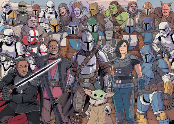 Star Wars The Mandalorian Challenge Jigsaw Puzzle Baby Yoda (1000 pieces)