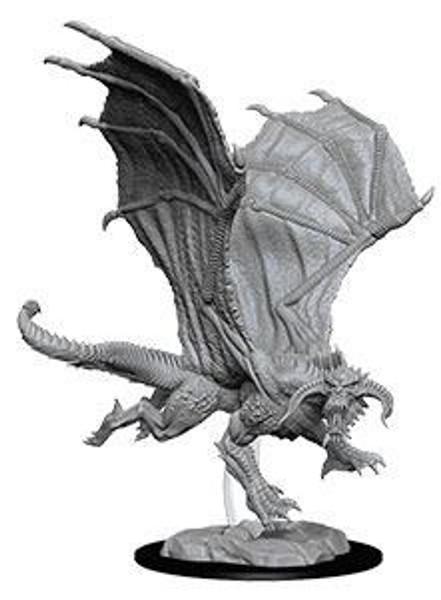 D&D Nolzur's Marvelous Miniatures Unpainted Miniature Young Black Dragon