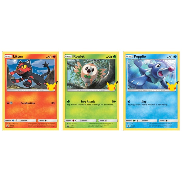 Pokemon TCG: 25th Anniversary Alola Starters 3 Pack Oversize Card Exclusive