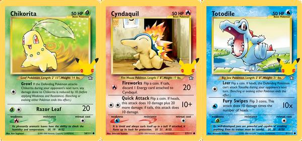Pokemon TCG: 25th Anniversary Johto Starters 3-Pack Oversize Card Exclusive