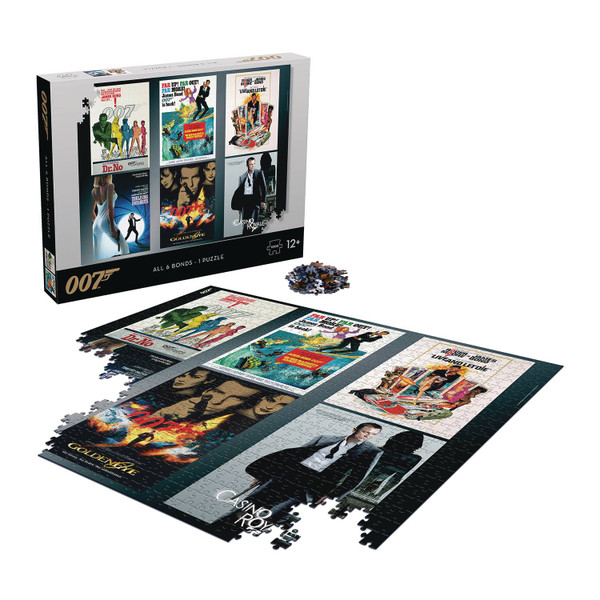 007 James Bond All Six Bonds In One 1000Pc Puzzle