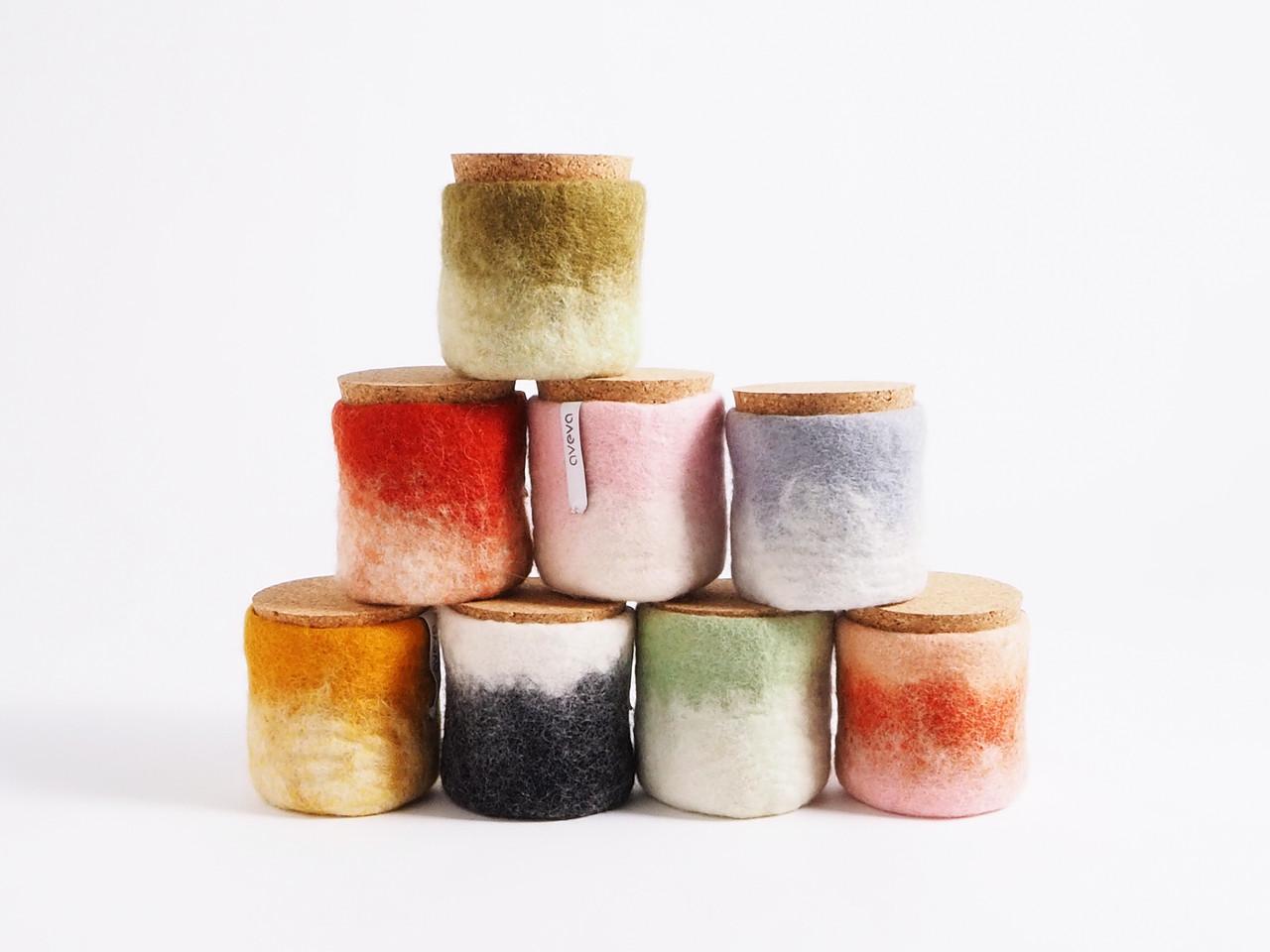 Wool Felted Jars