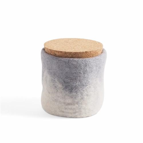 Wool Felted Jar *Grey*