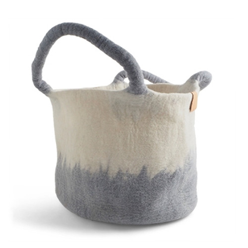 Aveva Design Wool Basket Hand Felted