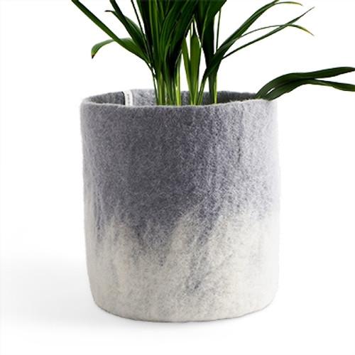 Aveva Design Wool Flower Pot OMBRE large/concrete