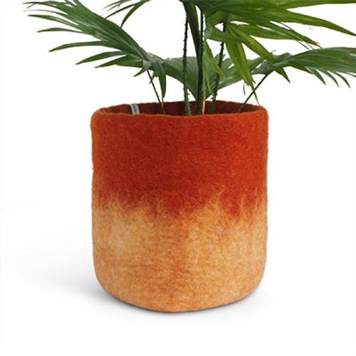 Aveva Design Wool Flower Pot OMBRE large/rust