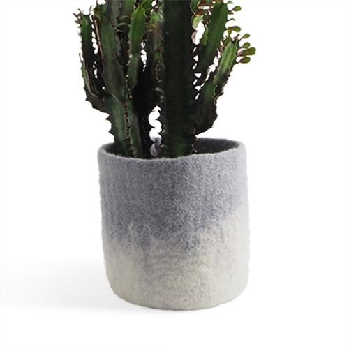 Aveva Design Wool Flower Pot OMBRE medium/concrete