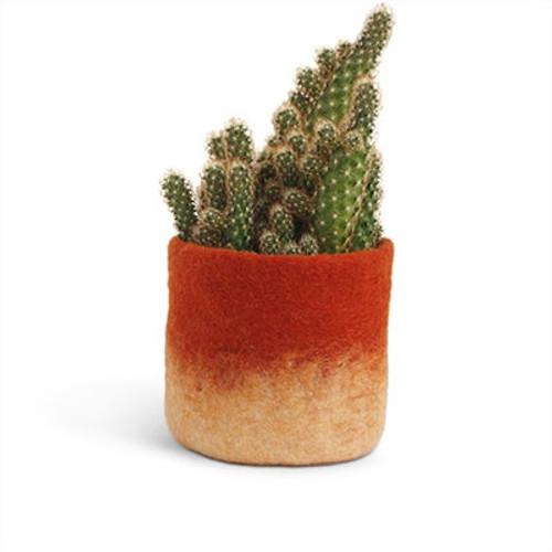 Aveva Design Wool Flower Pot OMBRE medium/rust
