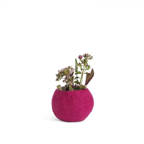 Aveva Design Wool Flower Pot ROUND small/pink