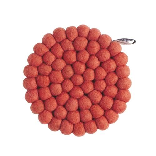 Aveva Design Wool Felt Ball Trivet Hot Pad *Terracotta*