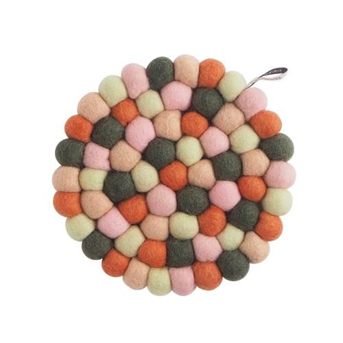 Aveva Design Wool Felt Ball Trivet Hot Pad *Forest*