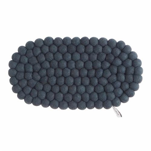 Wool Felt Ball Trivet Hot Pad 13 inch